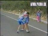 2 cyclistes pas très malin