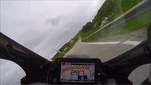 Une course de côte moto hyper rapide en Yamaha R1