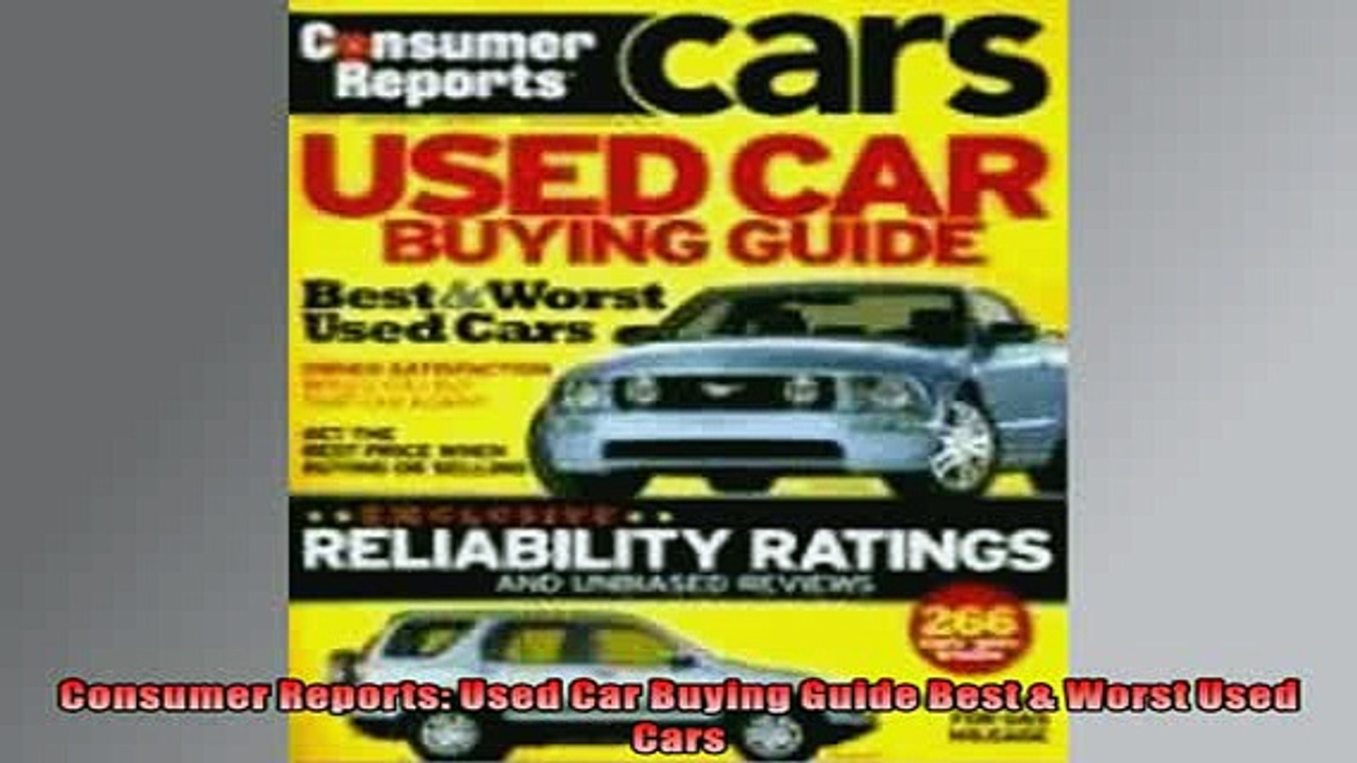 Worst Used Cars >> Free Pdf Downlaod Consumer Reports Used Car Buying Guide