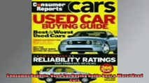 Free PDF Downlaod  Consumer Reports Used Car Buying Guide Best  Worst Used Cars READ ONLINE