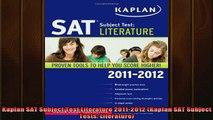 READ book  Kaplan SAT Subject Test Literature 20112012 Kaplan SAT Subject Tests Literature Full EBook