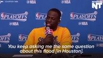 Warriors' Draymond Green Rips Reporter Over Houston Floods