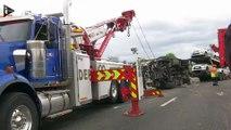 """Accident grave sur l'A13 : deux blessés en """"urgence absolue"""""""