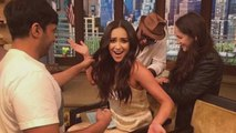 Shay Mitchell Suffers Wardrobe Malfunction While Co-Hosting 'Live! With Kelly and Michael'