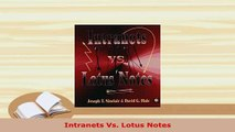 Download  Intranets Vs Lotus Notes  Read Online