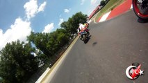 MID OHIO 7-17-2012  , JP`S SON AARON RIDING TWO UP WITH ERIC SPECTOR INTERMEDIATE SESSION