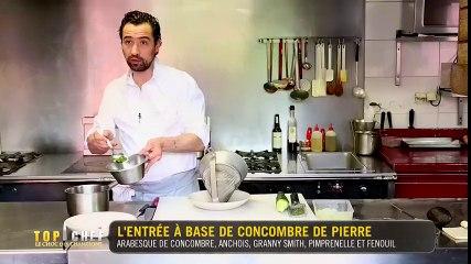 L'entrée à base de concombre de Pierre