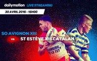 SO AVIGNON XIII vs ST ESTEVE XIII CATALAN - 1/4 de finale ELITE 1