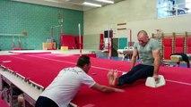 Georges St Pierre gymnastics training highlights