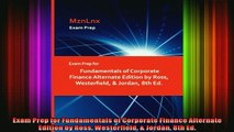 READ book  Exam Prep for Fundamentals of Corporate Finance Alternate Edition by Ross Westerfield  Free Online