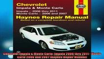 FAVORIT BOOK   Chevrolet Impala  Monte Carlo Impala 2006 thru 2011  Monte Carlo 2006 and 2007 Haynes  FREE BOOOK ONLINE