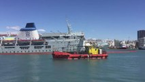 Greek Ferry Starts to Sink in Port of Piraeus