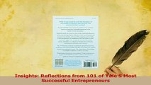 Read  Insights Reflections from 101 of Yale S Most Successful Entrepreneurs Ebook Free