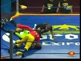 AAA-SinLimite 2009-06-13 Triplemania-XVII 02 X-Pac, Charly Manson & Rocky Romero vs. Zorro, Ozz & Cuervo