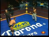 AAA-SinLimite 2009-06-13 Triplemania-XVII 05 AAA Tag Team Title - Nicho el Millonario & Joe L?der vs. Latin Lover & Marco Corleone