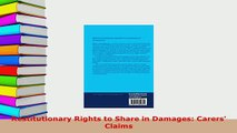 Download  Restitutionary Rights to Share in Damages Carers Claims Free Books