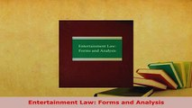 PDF  Entertainment Law Forms and Analysis  EBook