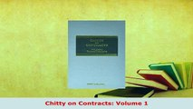 PDF  Chitty on Contracts Volume 1  EBook