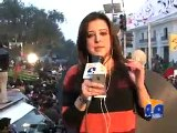 PTI workers attack Geo News van,Abuse Anchorperson Sana Mirza-Geo Reports-15 Dec 2014 - Video Dailymotion