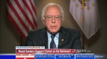 Sanders discusses possibly supporting Clinton