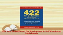 Read  422 Tax Deductions For Businesses  Self Employed Individuals Ebook Free