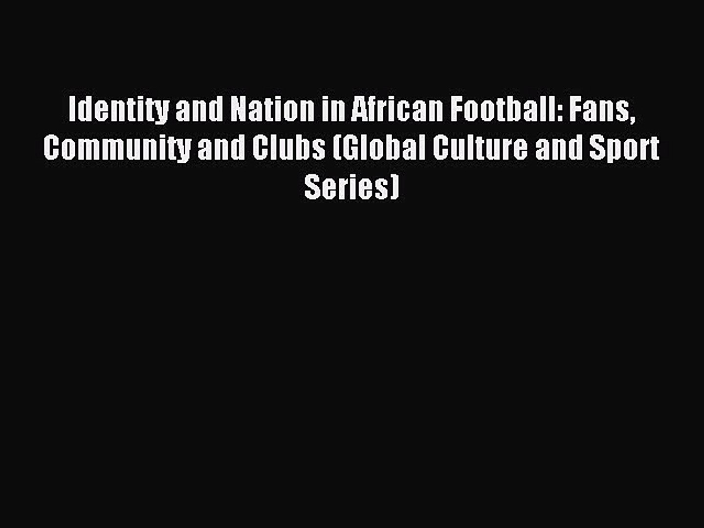African American Bioethics: Culture, Race, and Identity