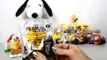 The Peanuts Movie Snoopy Toys McDonalds Happy Meal Toys 2015 Set kid friendly