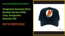 Orangetown Assassins Black Baseball Cap Goon NCHL Team, Orangetown-Assassins-Hat