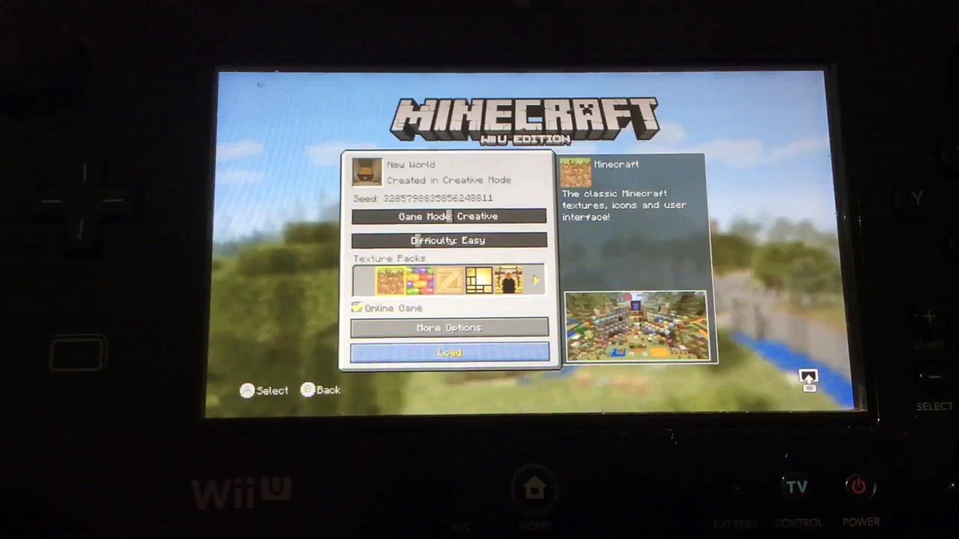 Minecraft WII U Seed-Desert Temple Next To A Desert Village!