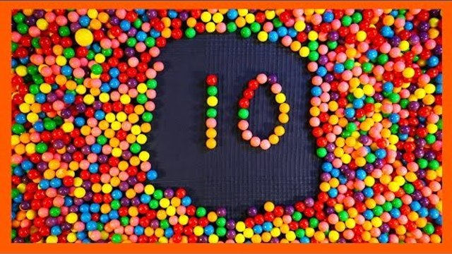 Count to Ten for Children with Candy Counting Numbers from 1 to 10