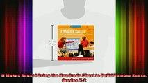 READ book  It Makes Sense Using the Hundreds Chart to Build Number Sense Grades K2 Full Free