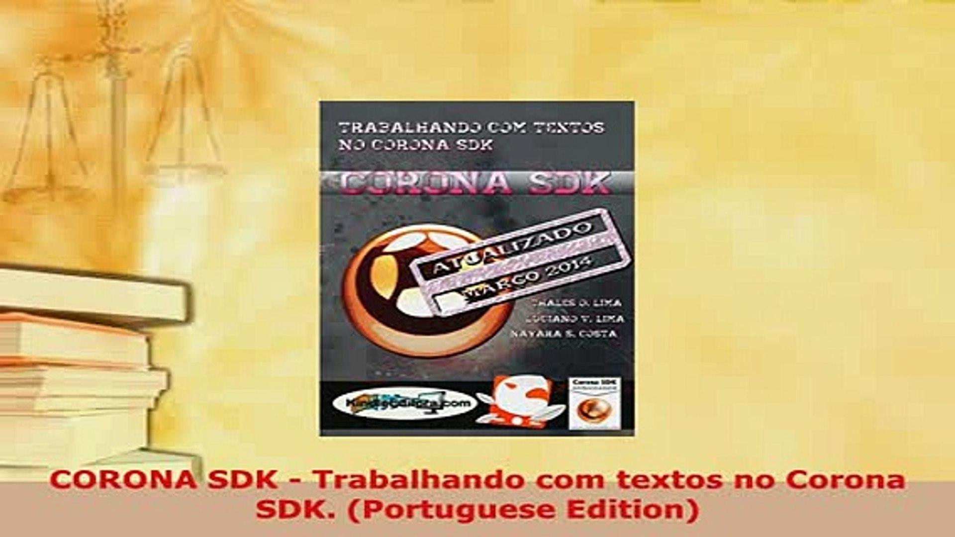 PDF  CORONA SDK  Trabalhando com textos no Corona SDK Portuguese Edition  EBook