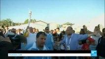 J-100 avant les Jeux Olympiques de Rio - La flamme olympique dans un camp de migrants en Grèce