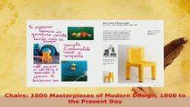Download  Chairs 1000 Masterpieces of Modern Design 1800 to the Present Day Free Books