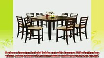 buy now  East West Furniture FAIR9CAPC 9Piece Counter Height Dining Table Set