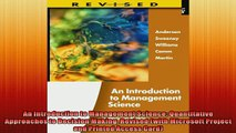 READ book  An Introduction to Management Science Quantitative Approaches to Decision Making Revised  FREE BOOOK ONLINE