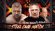 Triple H vs Brock Lesnar - Steel Cage Match - Extreme Rules 2013