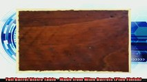 buy now  Full Barrel Bistro Table  Made from Wine Barrels Pine Finish