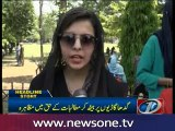 Punjab University students stage protest to highlight transport issue
