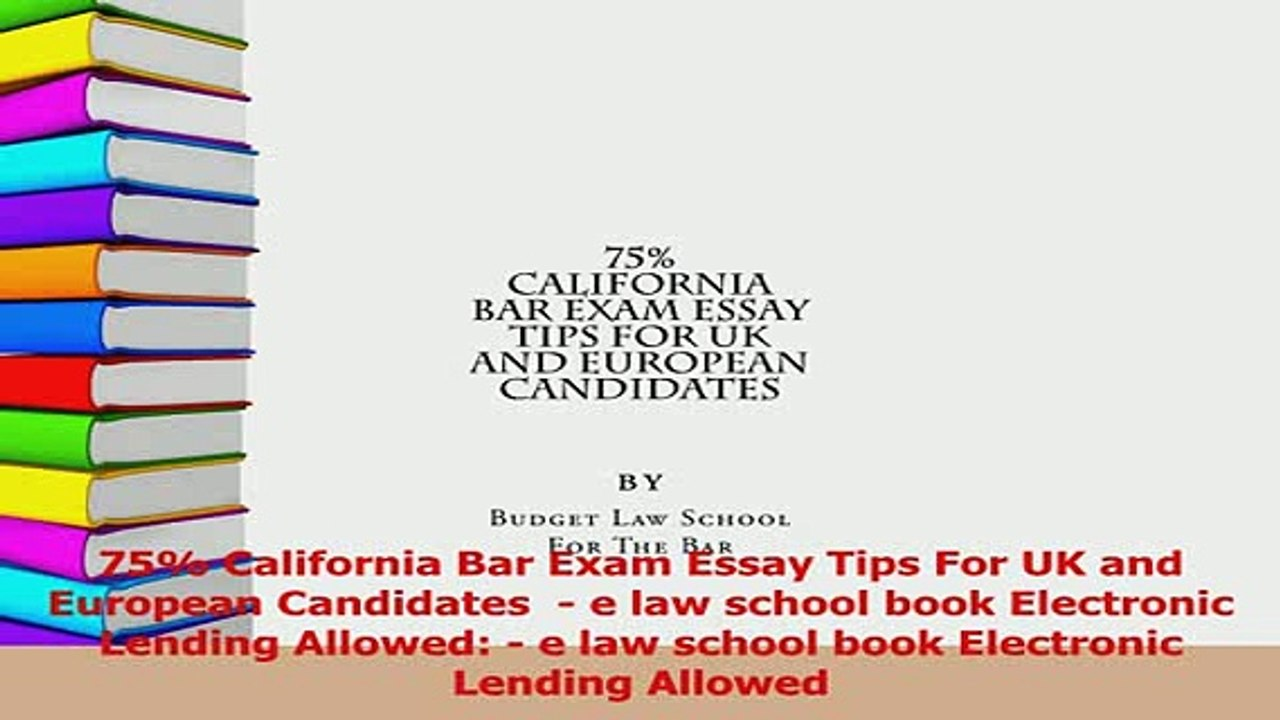 Download 75 California Bar Exam Essay Tips For UK and European Candidates e  law school book Ebook Online