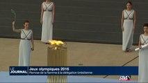 Jeux Olympiques 2016: remise de la flamme à la délégation brésilienne