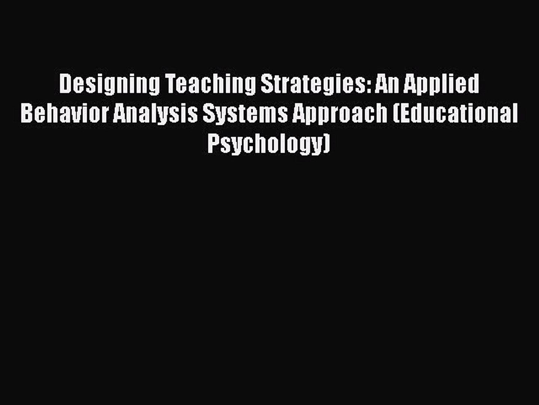 ABA Teaching Strategies