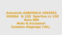 HONDA  @ 125  Sportive cc 125