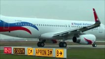 Nepal Airlines Airbus A320, flight from Germany to TIA Kathmandu Nepal.