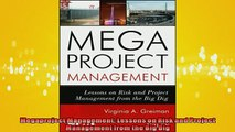 FAVORIT BOOK   Megaproject Management Lessons on Risk and Project Management from the Big Dig  FREE BOOOK ONLINE