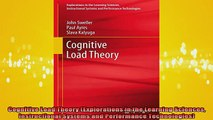 DOWNLOAD FREE Ebooks  Cognitive Load Theory Explorations in the Learning Sciences Instructional Systems and Full EBook