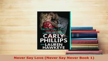 PDF  Never Say Love Never Say Never Book 1  Read Online