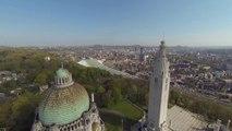Vu du ciel, le nouvel axe Guillemins-Boverie-Médiacité à Liège
