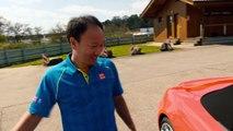Tennis legends on the Porsche test track in Weissach