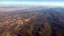 Flight QR1369 Qatar to Cape Town 26 04 2016 going down Magnificient morning flight views unedited vi